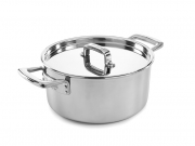 Elegance 25cm Stainless Steel Tri-Ply Casserole Pan & Lid